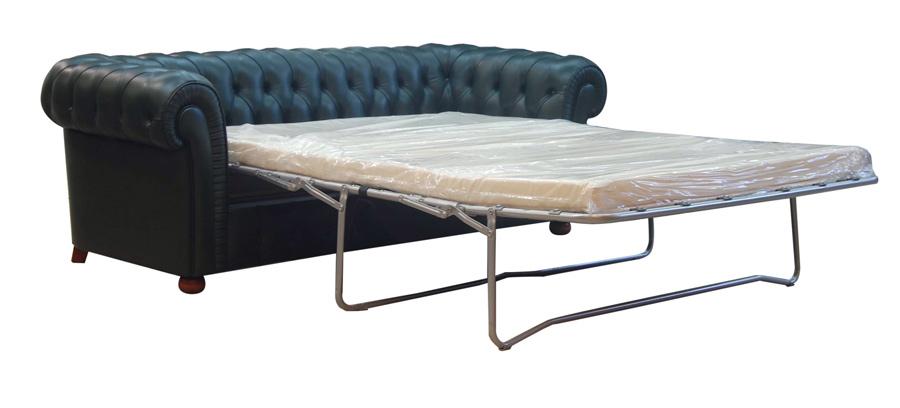 Sofa piel cama chesterfield c for Sofa cama piel barcelona