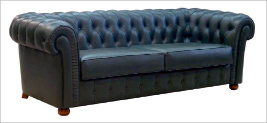 Sofa piel cama chesterfield c for Sofa cama chester precio