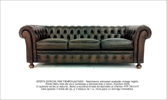 Sofas chesterfield oferta for Sofa clasico ingles