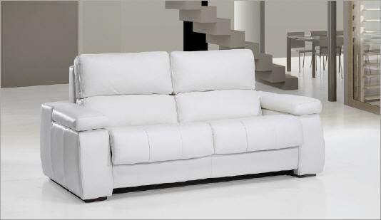 Sof cama piel cleveland - Sofa cama piel blanco ...