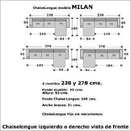 Medidas estandar sofa chaise longue sofa ideas for Sofa de 4 plazas medidas