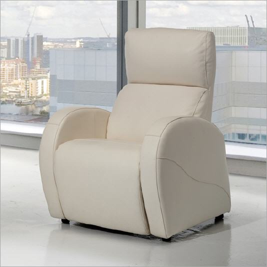 Sill n relax piel maine for Sillon relax piel blanco